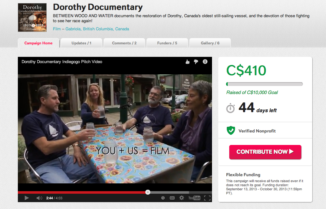 Dorothy Documentary fundraiser is live!